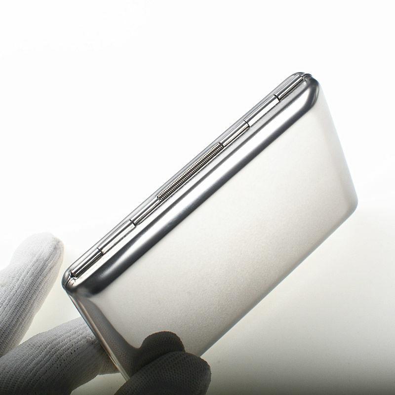 QOONG 2 قطعة RFID الرجال محافظ بطاقة حالة المعادن السفر بطاقة محفظة لبطاقات الائتمان الفولاذ المقاوم للصدأ مرآة الأعمال ID بطاقة حامل