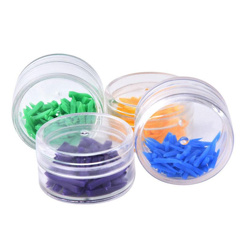 4 ألوان 1 صندوق المتاح أداة الأسنان الطبية الأسنان أسافين البلاستيك الأسنان أسافين طبيب الأسنان أداة العناية بالأسنان