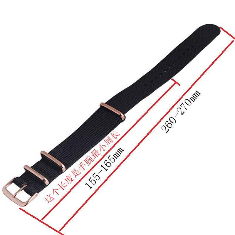 السيد ننغ مربط الساعة 18 20 مللي متر 22 مللي متر الناتو حزام روز الذهب مشبك الناتو الأشرطة ووتش الفرقة ووتش حزام 9 الألوان اختيار حزام على لساعات
