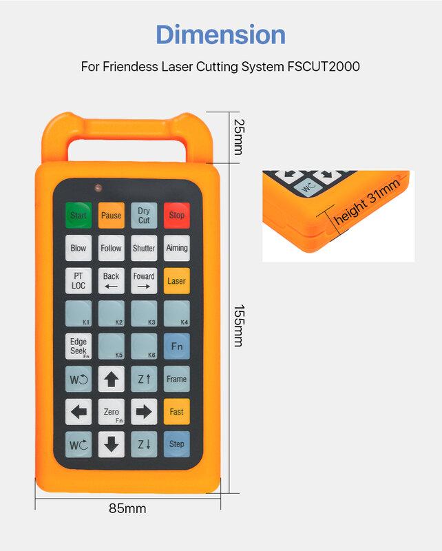 جهاز تحكم لاسلكي WKB لـ FSCUT2000C Cypcut BCS100 BMC1604 FSCUT2000
