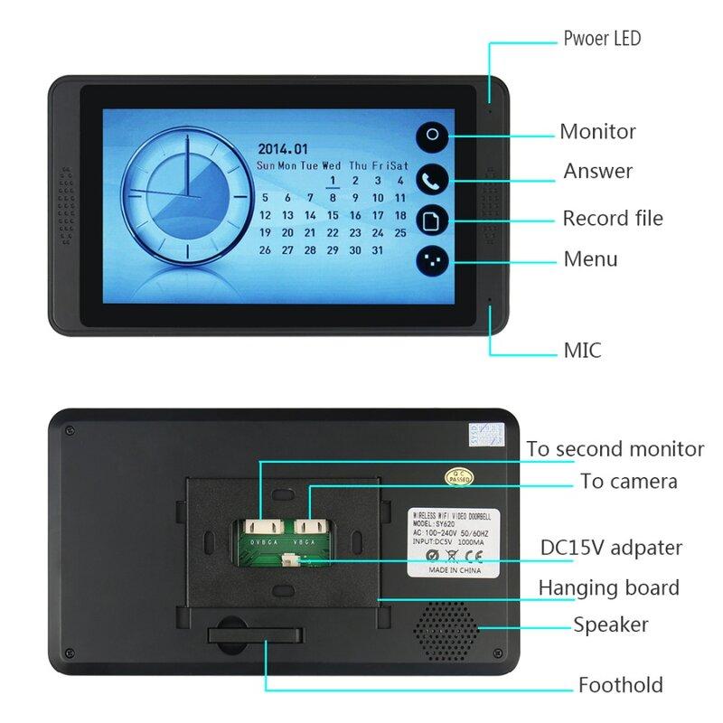 SmartYIBA 7 بوصة الرئيسية فيديو باب الهاتف مع رفيد كاميرا فيديو هاتف المنزل فيديو جرس باب إنتركوم أطقم