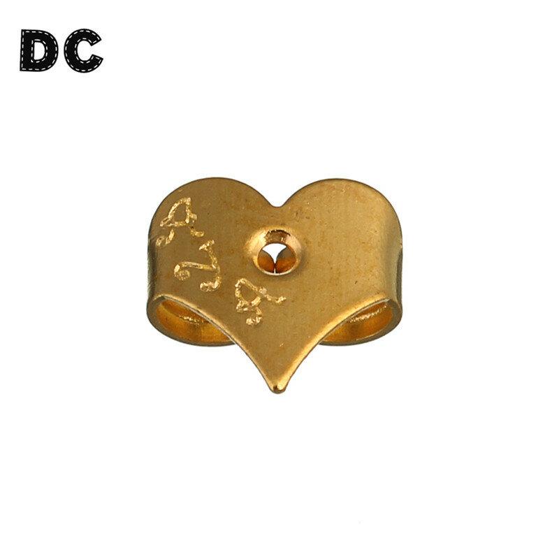 100 قطعة/الوحدة القرط عودة إعدادات يسد محظور المطاط عودة القلب الأقراط كاب ل أقراط مجوهرات اكسسوارات