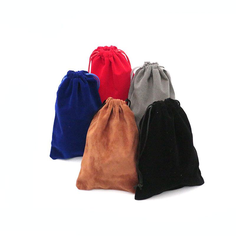 الجملة المخملية حقائب 13x18 سنتيمتر 5 قطعة الزفاف الرباط الحقائب مجوهرات عرض أكياس لطيفة شنطة هدايا الأحمر والأسود الخ حقائب للهدايا رخيصة