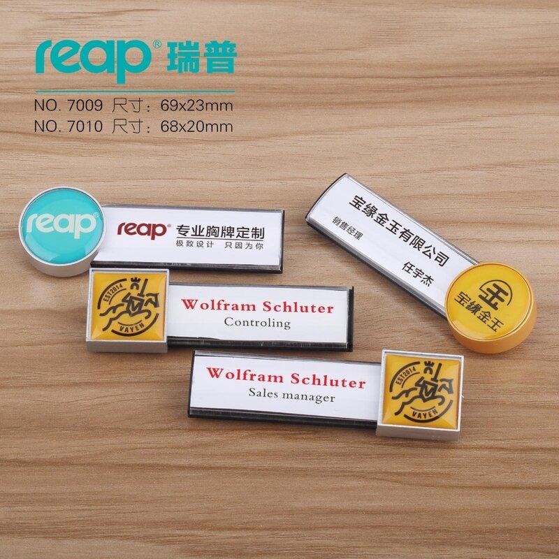 20 قطعة/شارة شخصية لعلامة الاسم التجاري/بطاقة الهوية-منقوشة بالليزر ، دعم مغناطيسي-تخصيص #7009