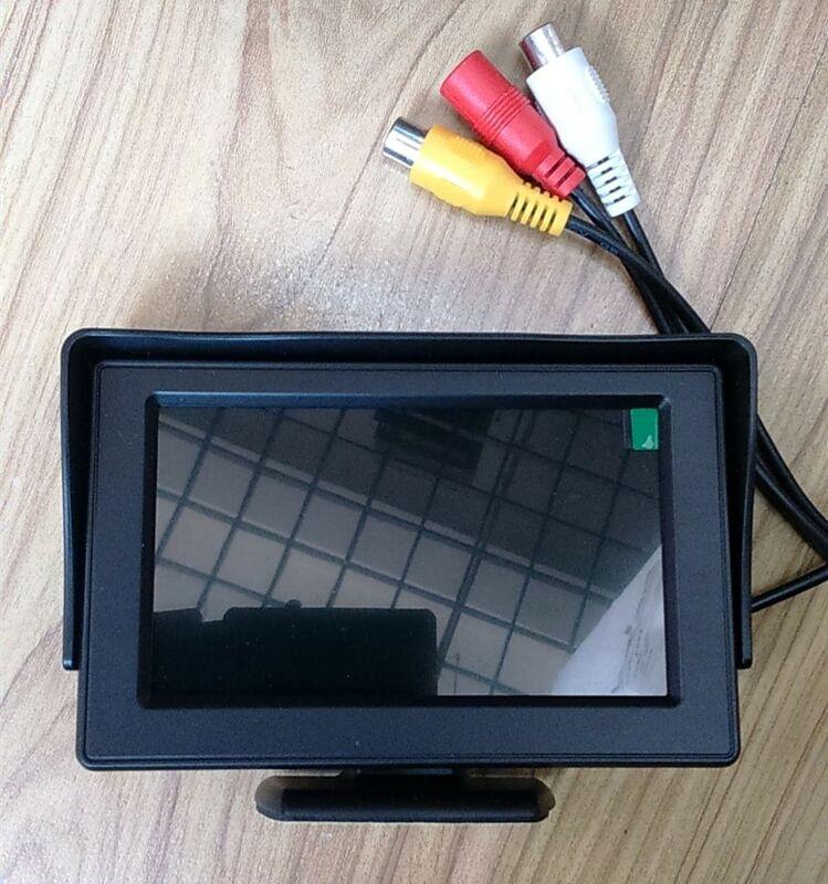 4.3 بوصة شاشة لد هد ألواح رسومات للسيارات يمكنك تركيبها بنفسك عكس عرض شاشة الرؤية الخلفية المزدوج أف المدخلات