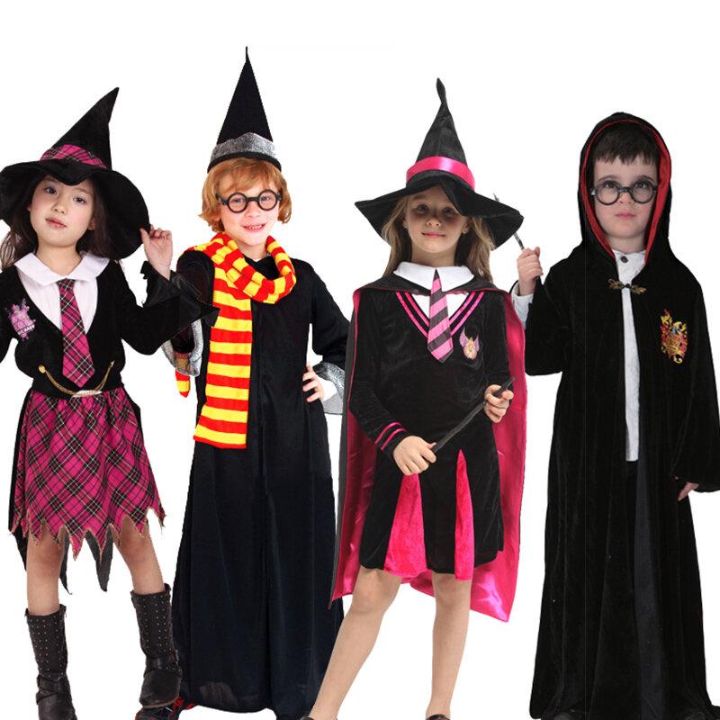 هالوين المذرة عطلة للأطفال صبي الفتيات زي ساحر مجموعة الكرة يظهر الساحر ازياء ملابس مضحكة