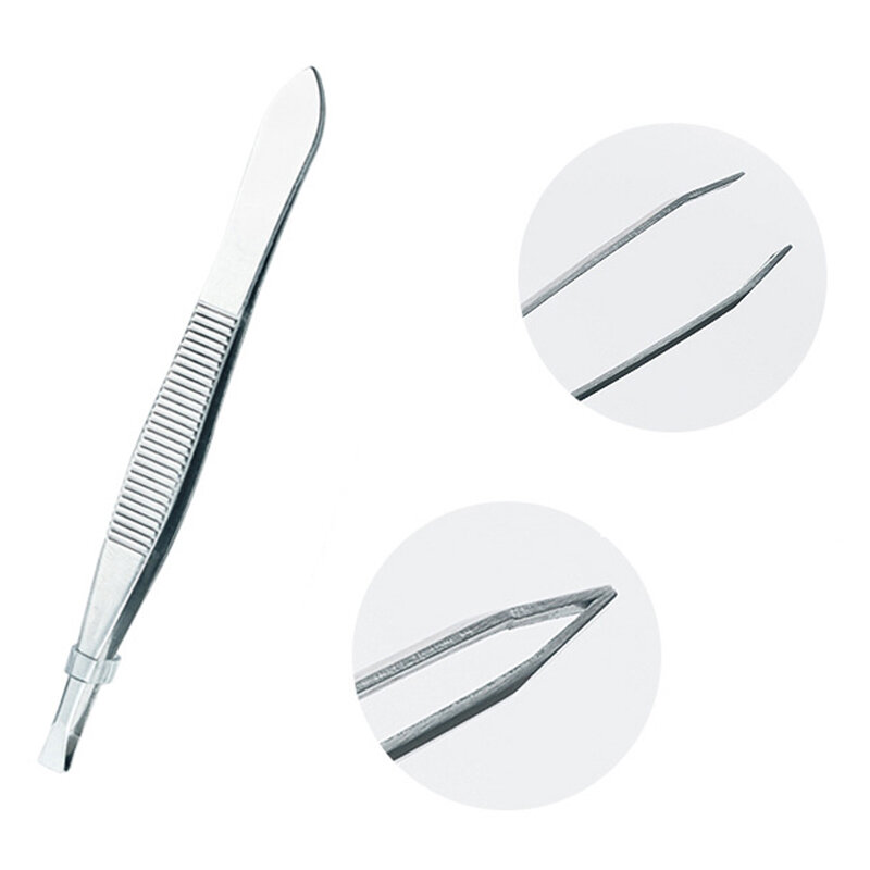 ZtDpLsd 1 قطعة الدقة مائل الحاجب الملقط عدم الانزلاق ماكياج مزيل الملقط أدوات الفولاذ المقاوم للصدأ الوجه الشعر النساء إزالة كليب