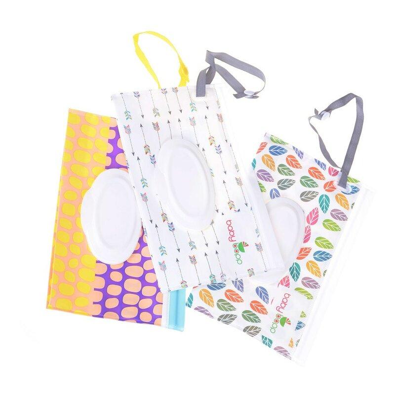 حقيبة مستحضرات التجميل ، علبة مناديل صديقة للبيئة مع قابض ، سهلة الحمل ، علبة مناديل مبللة ، حقيبة حمل