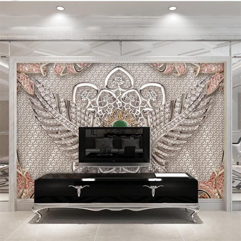 Beibehang خلفيات جدارية مخصصة المعيشة غرفة نوم الغلاف الجوي الملمس مجوهرات جدارية خلفية جدار المنزل الديكور