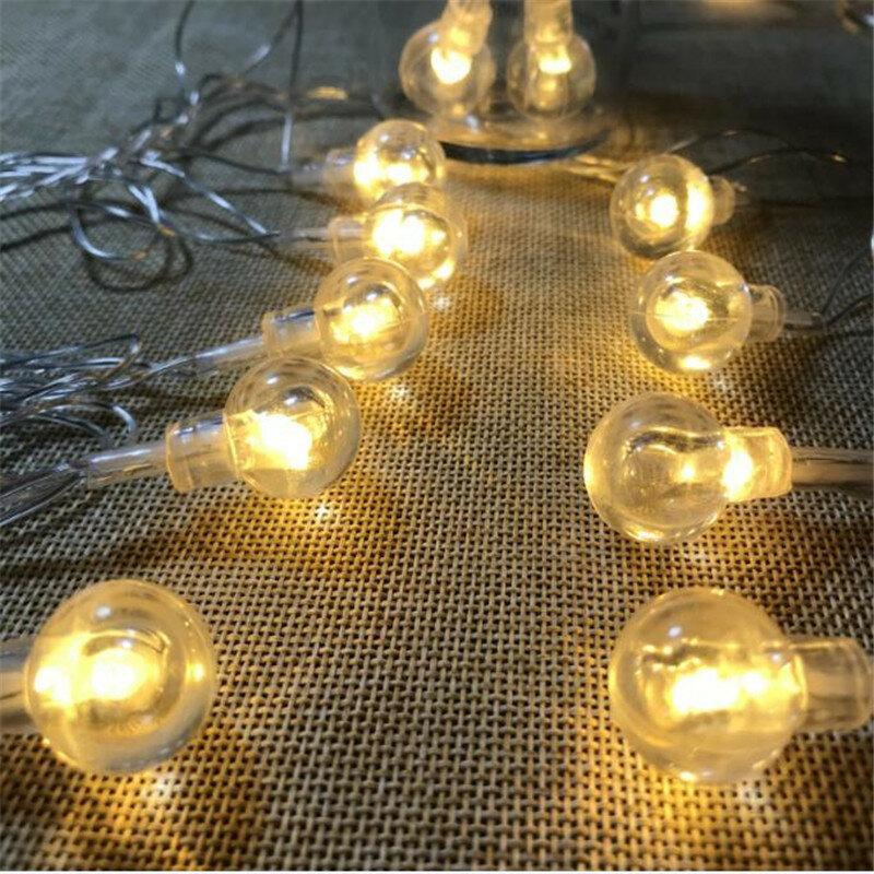 كرة فقاعات 3 M 20led البطارية led سلسلة ضوء الديكور الداخلي ضوء ل عطلة المنزل عيد الميلاد الزفاف حزب