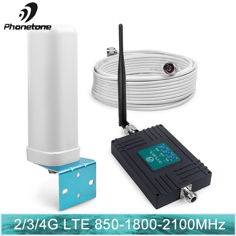 إشارة مكرر الهاتف الخليوي مكرر 850 mhz الخلوية إشارة معززة 1800 UMTS المحمول 3G 2100MHz 4g 70dB LTE مكبر للصوت 850 mhz مجموعة