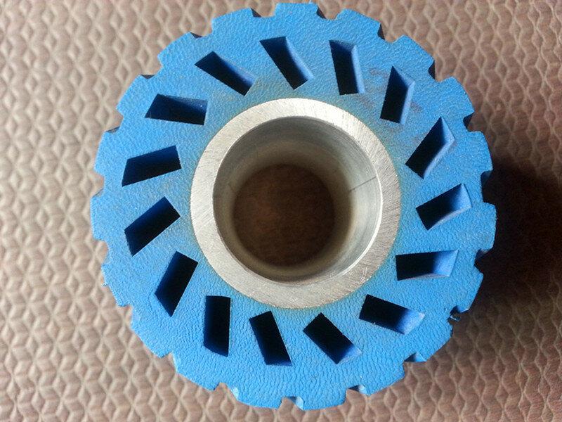 عجلة مطاطية لحزام الصنفرة 60*50*25.4 مللي متر, مع قلب من الألومنيوم لملمع الصنفرة