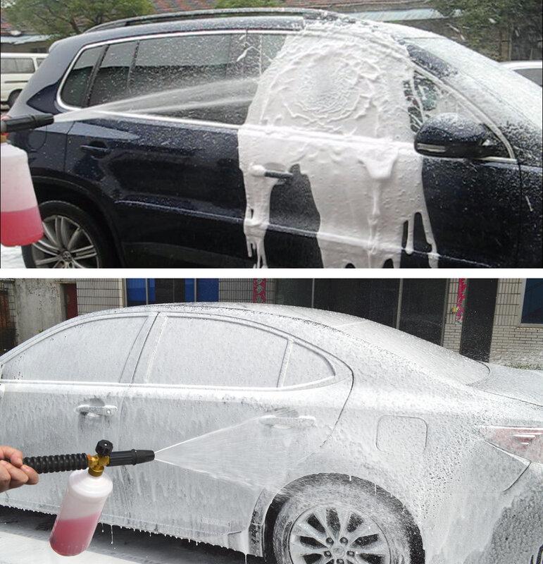 مولد فوم أنبوية من الفوم الثلجي بخاخ الصابون سيارة رغوة غسالة ل Huter W105-P M135-PW M165W-PW W165QL W195QL جهاز تنظيف يعمل بالضغط العالي