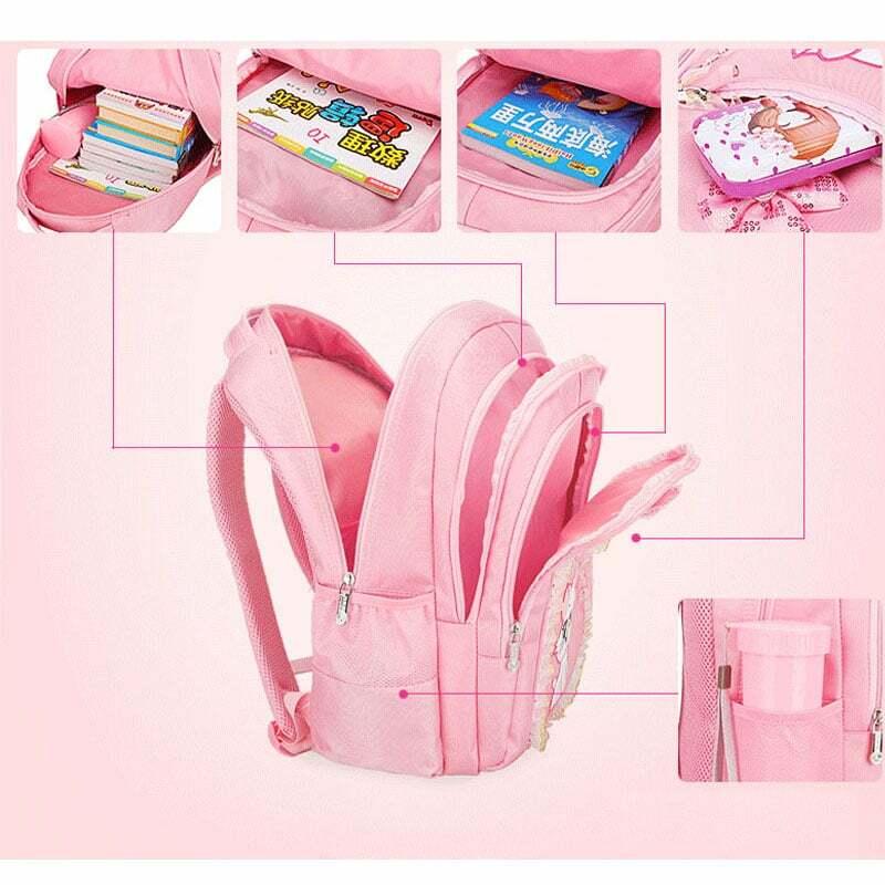 Cut Cat-حقيبة ظهر للبنات بنمط كرتوني ، حقيبة مدرسية للأطفال ، حقيبة ظهر للبنات