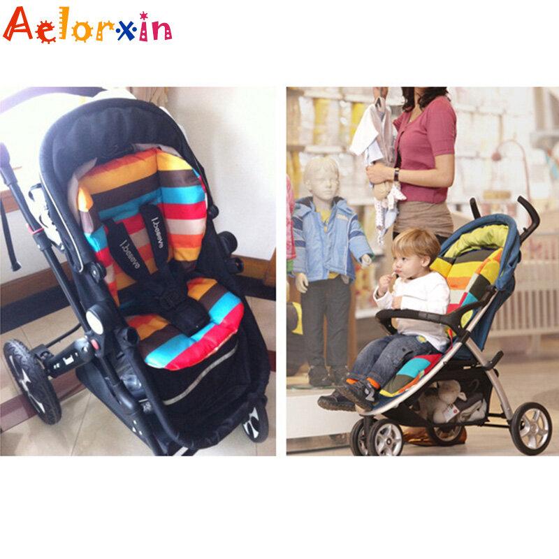 مقعد عربة أطفال قطني سميك وناعم ، وسادة عربة أطفال بألوان قوس قزح لطيفة ، ملحقات مقعد سيارة BB