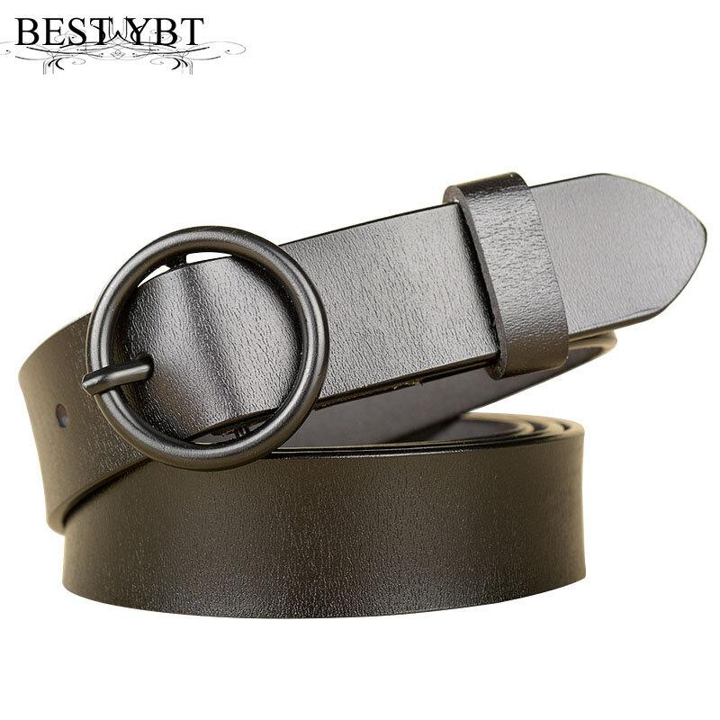 أفضل YBT-حزام رعاة البقر للسيدات ، حزام زخرفي بحلقة دائرية وإبزيم معدني ، نوعية جيدة ، موضة جديدة