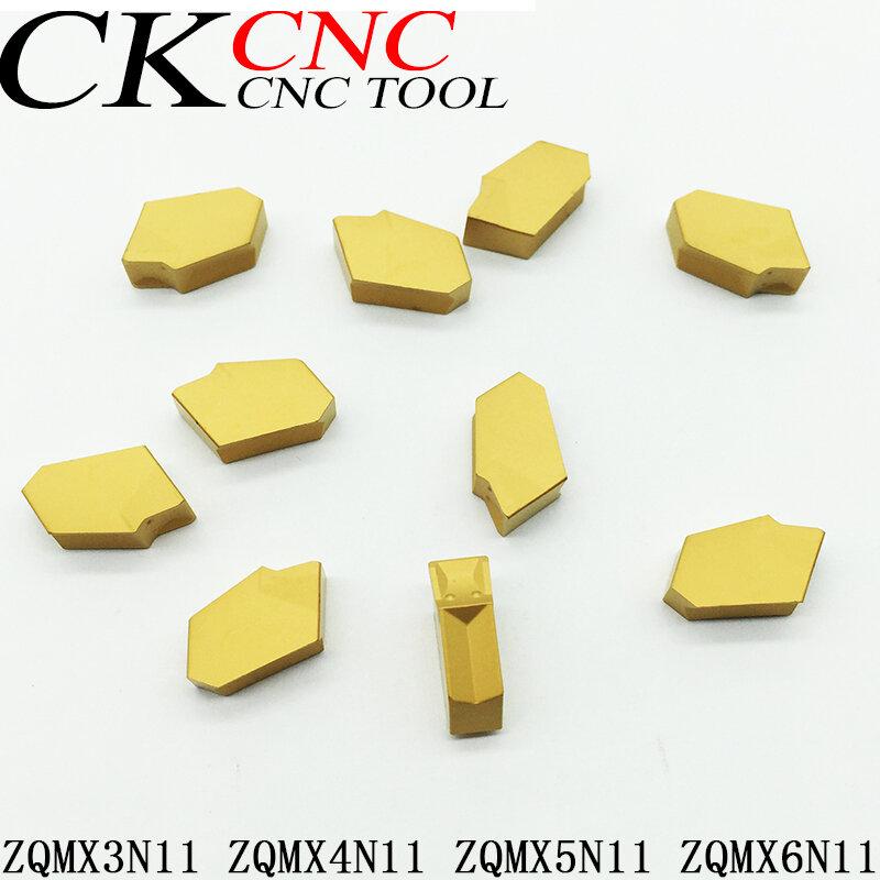 10 قطعة ZQMX5N11-1E P3035 ZQMX3N11 ZQMX4N11 ZQMX5N11 ZQMX6N11 CNC شفرة كربيد القاطع واحد إدراج أدوات