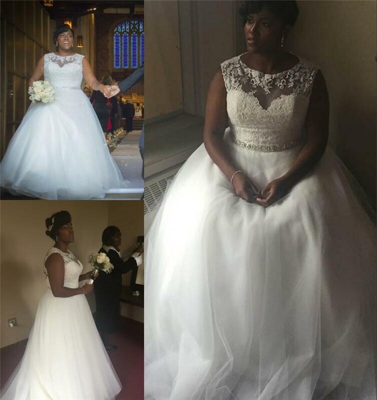 الساحرة ألف خط بلا أكمام Illsion شير فساتين الزفاف الأفريقية تول رخيصة مخصص زي العرائس