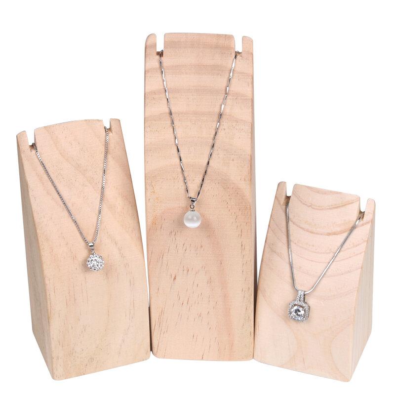 عرض قلادة خشبية على شكل قوس ، منظم عرض مجوهرات ، تخزين قلادة لمتجر المجوهرات