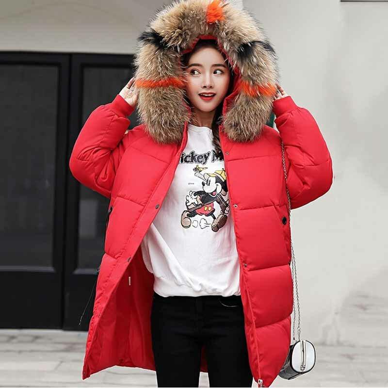 2020 المرأة باركاس للشتاء رشاقته الدافئة فضفاض معاطف السترة الفراء كبير طوق مقنع عادية الصلبة الشتاء القطن معاطف مبطنة 3XL