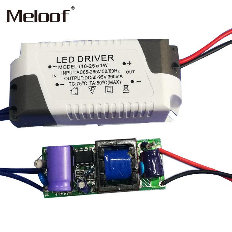 2 قطعة LED سائق تيار مستمر 85-265 فولت 1-3 واط 4-5 واط 4-7 واط 8-12 واط 18-24 واط امدادات الطاقة الناتج 300mA محرك خارجي ل LED النازل