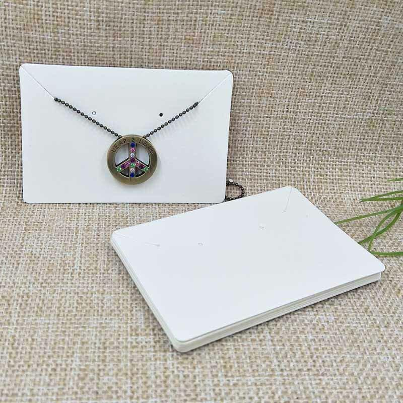 6*9 سنتيمتر الأبيض/كرافت/أسود DIY فارغة مجوهرات عرض منتجات التعبئة بطاقة ورقة قلادة بطاقة 100 قطعة في الكثير