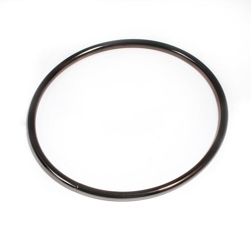 خاتم ذهبي أسود 5 مللي متر ، خاتم كبير ، إكسسوارات مجوهرات نسائية ، أقراط ، قلادة ، اكتشاف مجوهرات ، مجموعة جديدة