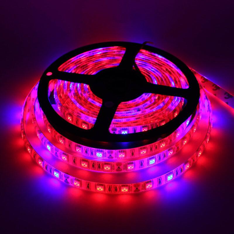 5 متر LED مصابيح فيتو شاشة ليد بطيف كامل قطاع ضوء 300 المصابيح 5050 رقاقة LED Fitolampy تنمو أضواء ل الدفيئة النباتات المائية