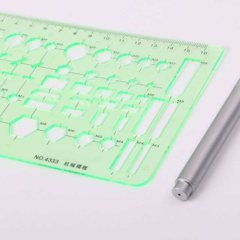 الدوائر البلاستيكية الساحات قالب هندسي حاكم الاستنسل قياس الميكانيكية