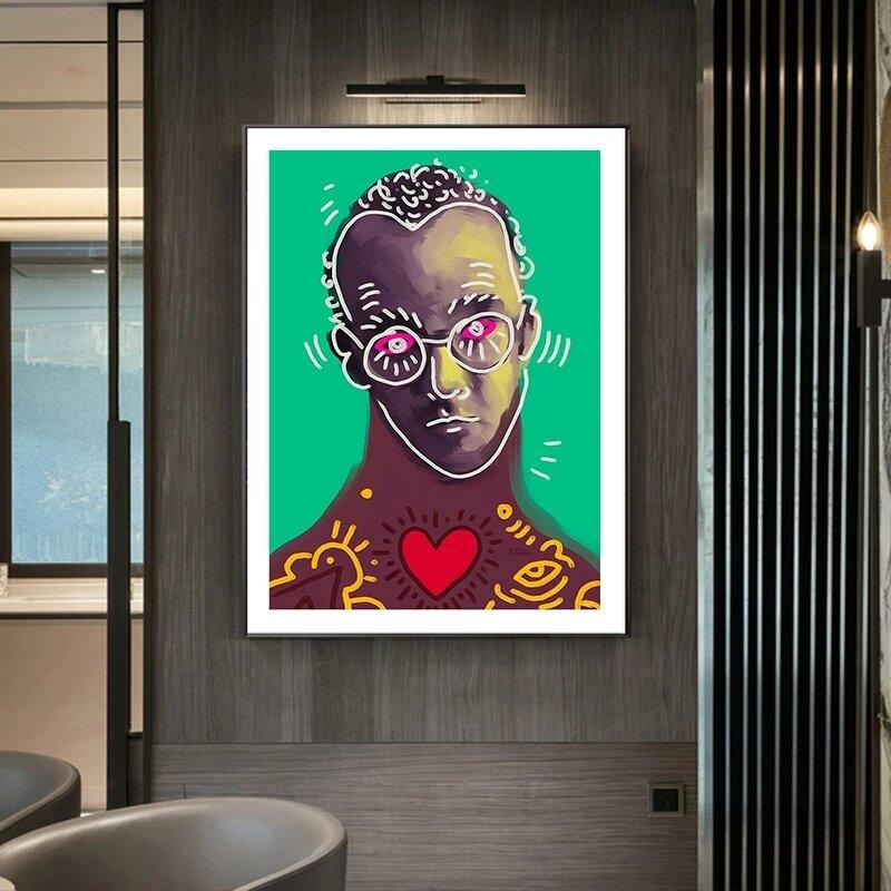 المشاهير قماش لوحات اللون الكتابة على الجدران شخصية الملصقات والمطبوعات الشمال صور فنية للجدران غرفة المعيشة ديكور المنزل