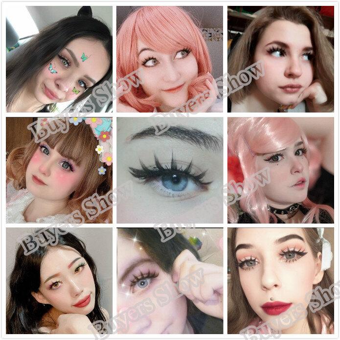 5 أزواج النساء اليابانية خطيرة ماكياج الرموش الصناعية طويلة سميكة الجمال الطبيعي العين لاش تمديد DIY بها بنفسك التجميل وهمية الرموش