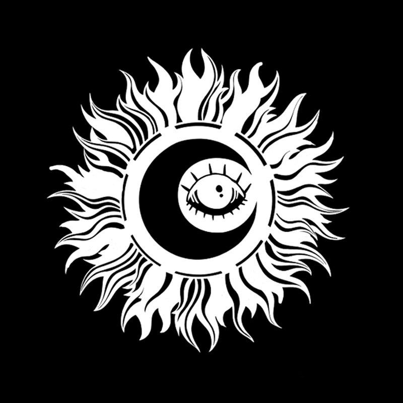 OFK مثيرة للاهتمام عباد الشمس والعيون ملصق سيارة ديكور الفينيل اكسسوارات 17.5*17.6 سنتيمتر