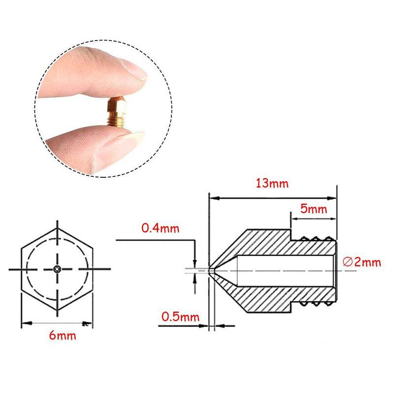 5 قطعة MK8 فوهة 0.4 مللي متر 0.3 مللي متر 0.2 مللي متر 0.5 مللي متر النحاس 3D الطابعات أجزاء الطارد الخيوط 1.75 مللي متر 3.0 مللي متر خيوط رئيس فوهات النحاس ...