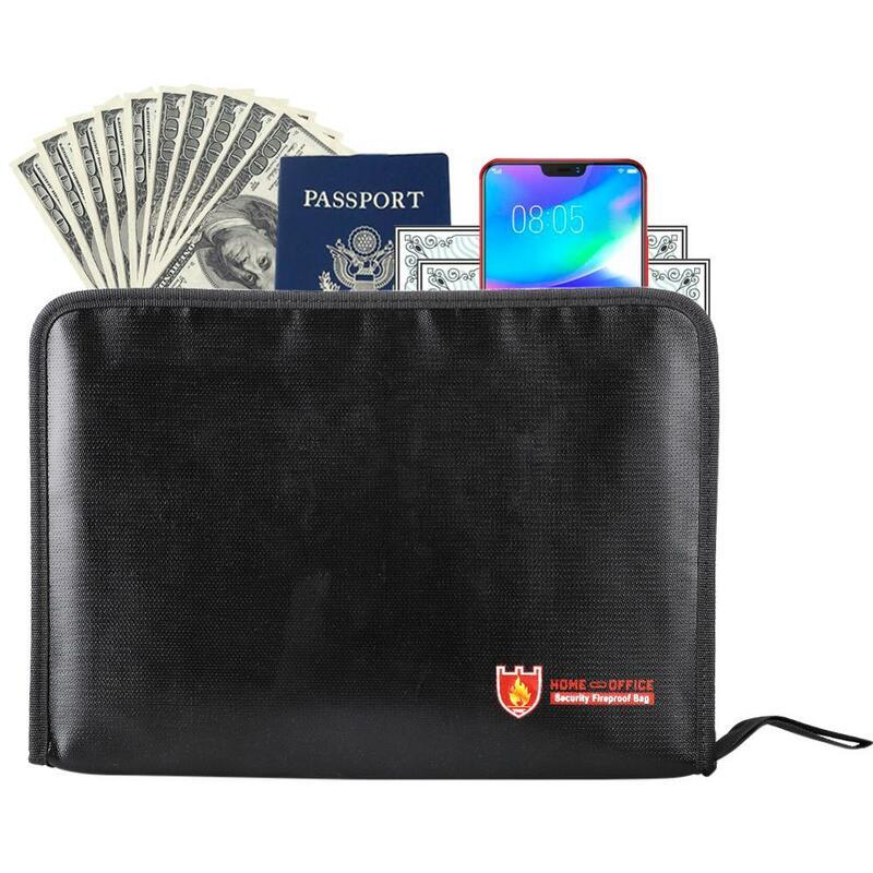 حقائب مستندات مقاومة للحريق تحمل ملفات قانونية كبيرة الحجم دون ثني حقيبة آمنة لأجهزة الكمبيوتر المحمولة والمجوهرات وجواز السفر