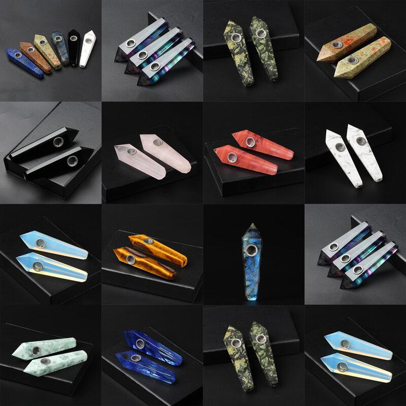 الكوارتز الطبيعي التدخين الأنابيب الكريستال نقطة العصا شفاء كريستال GemstoneWith تصفية المعادن سعر الجملة 1 قطعة