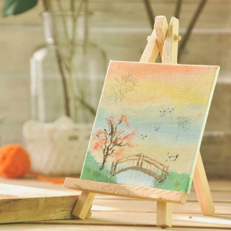 لوحة فنية من القماش إطار لوحة فنية مربعة الشكل لوحة رسم فنية لكنافا إطار زيت خشبي أكريلي J5K4