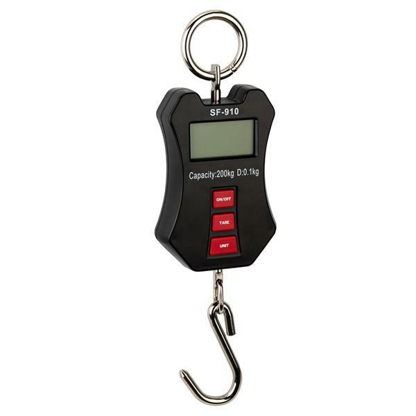 ميزان رافعة محمول صغير ، شاشة LCD مضيئة ، ميزان معلق ، مؤشر بطارية كامل السعة مع البطاريات