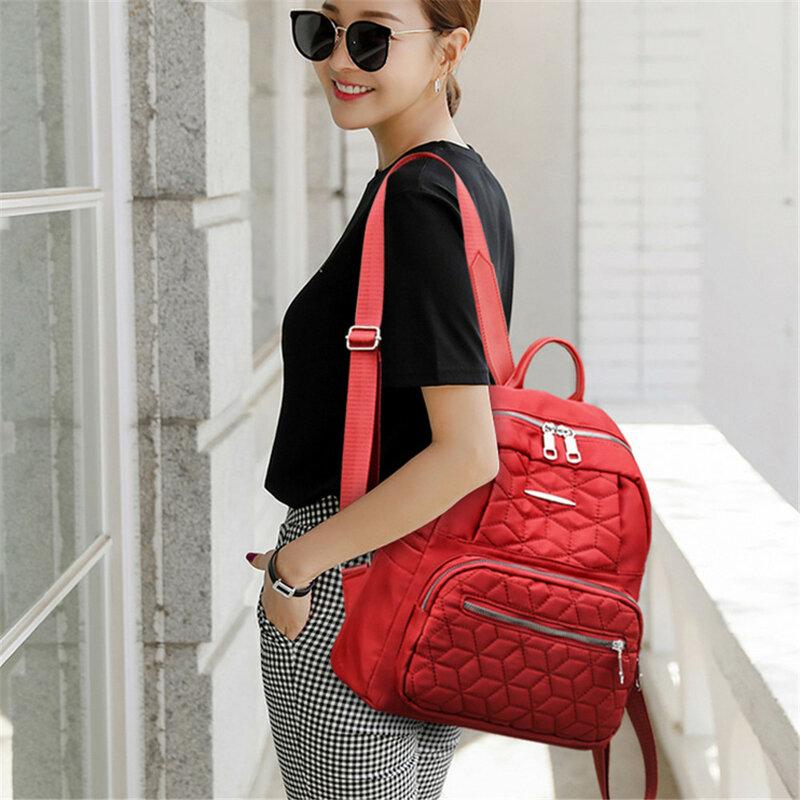 حقيبة ظهر نسائية مزدوجة السحاب بتصميم أنيق حقائب سفر نسائية غير رسمية 2021 حقيبة ظهر نسائية جديدة بجودة عالية من قماش أكسفورد