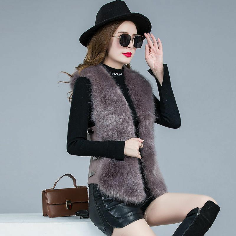 معطف فرو الثعلب الصناعي ، سترة دافئة وسميكة للنساء ، معطف قصير برقبة على شكل v ، مقاس كبير 4XL ، مجموعة خريف وشتاء 2021