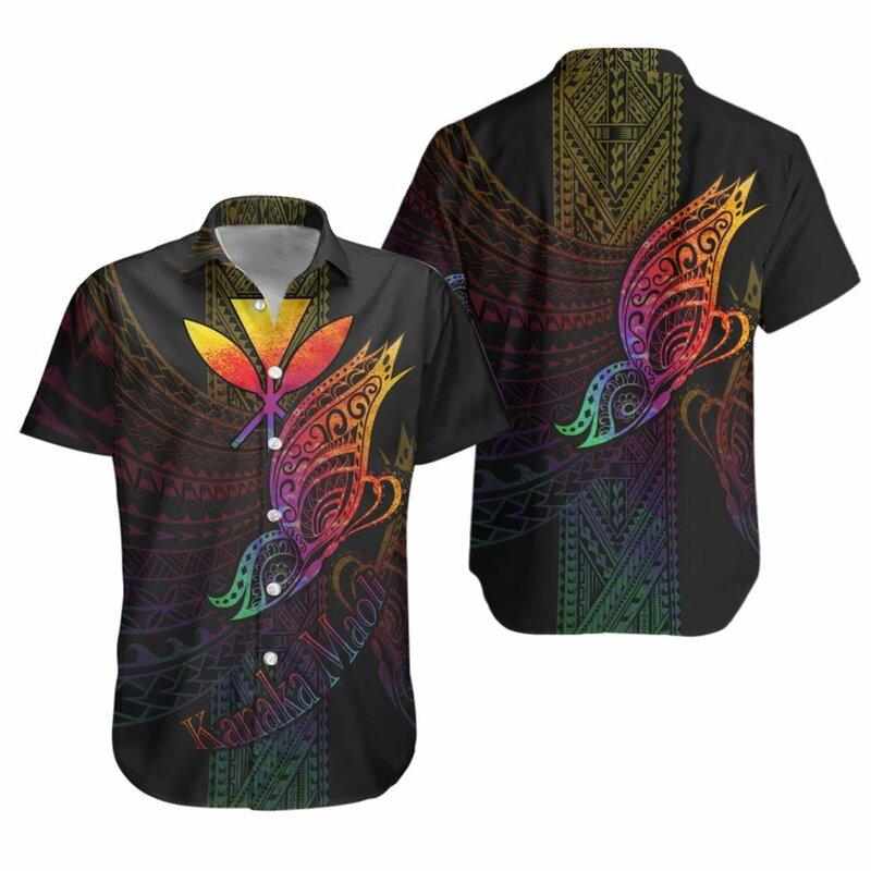 2021 الصيف قصيرة الأكمام قمصان بولينيزية السلاحف القبلية الكركديه ثلاثية الأبعاد في جميع أنحاء المطبوعة قميص هاواي صيفي رجالي عادية شاطئ قميص