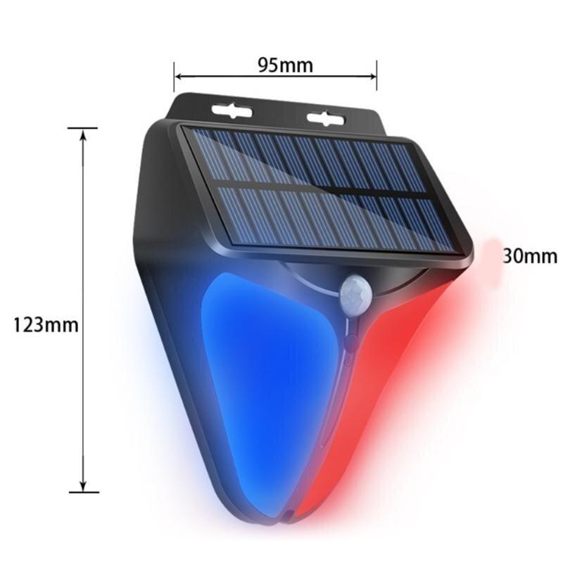 المنزل الذكي الاستشعار جهاز إنذار ضد السرقة نظام لاسلكي في الهواء الطلق تعمل بالطاقة الشمسية مصباح ضوء إحترافي صفارة الإنذار مقاوم للماء