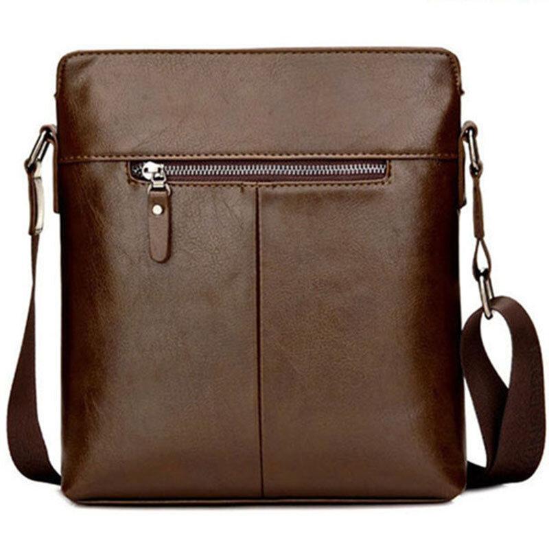 الرجال سعة كبيرة حقيبة كتف حقيبة كروسبودي حقيبة رجال الأعمال بو حقيبة جلدية