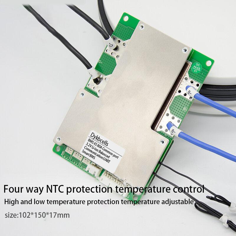Dykbcell الذكية BMS 7S 6S 24 فولت 100A 80A 18650 بطارية ليثيوم لوح حماية ث التوازن ليثيوم أيون يبو بلوتوث التطبيق العرض