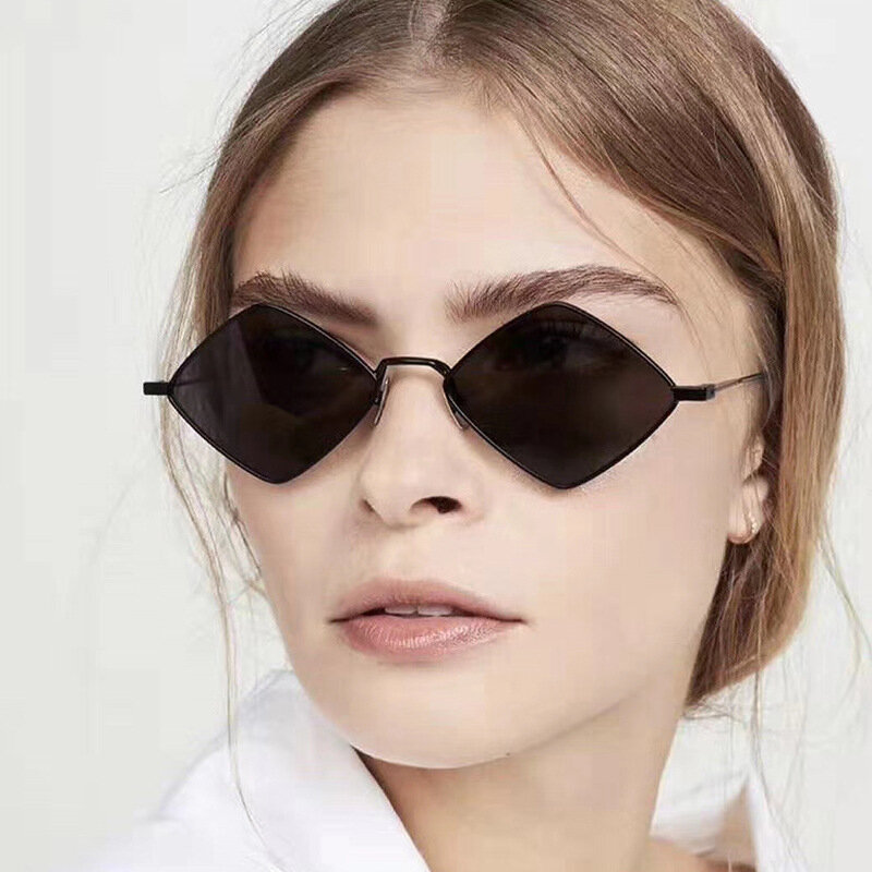 النظارات الشمسية النساء الرجال Steampunk الموضة خمر المعين نظارات شمسية بنات UV400 lunette دي soleil فام
