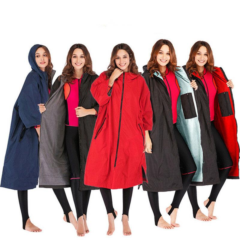 الرجال النساء رداء جاف سميكة الدافئة تصفح المعطف بذلة سريعة الجافة يندبروف هوديي سترة واقية ستوكات تيري Toweling بطانة