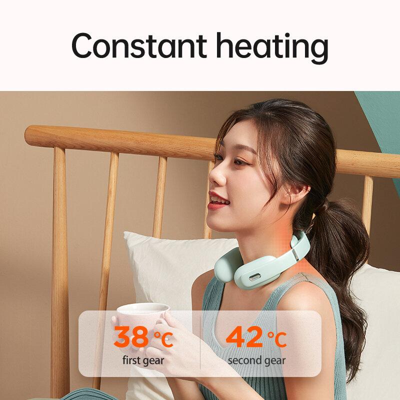 KEEPFIT اللاسلكية الرقبة مدلك الكهربائية الذكية نبض تخفيف الألم صوت موجه تدليك عنق الرحم الاسترخاء الساخن ضغط مريحة