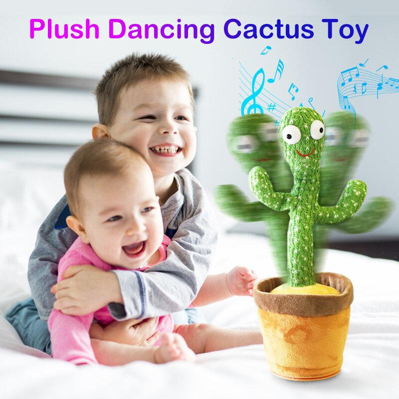 أفخم الرقص الصبار محشوة ألعاب متململة مجموعة لعب رقص وغناء الصبار هزة مع الموسيقى الرقص النبات لعبة أطفال الأطفال التعليم