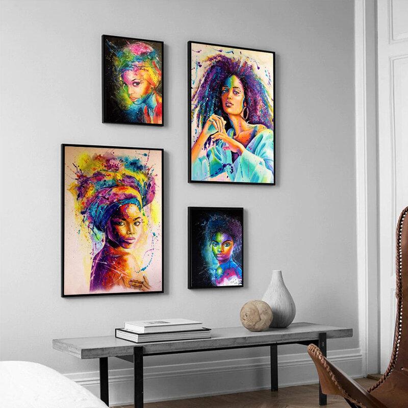 الموضة الحديثة سيدة صورة المشارك الكتابة على الجدران مجردة الفن قماش اللوحة مكتب غرفة المعيشة الممر المنزل الديكور جدارية