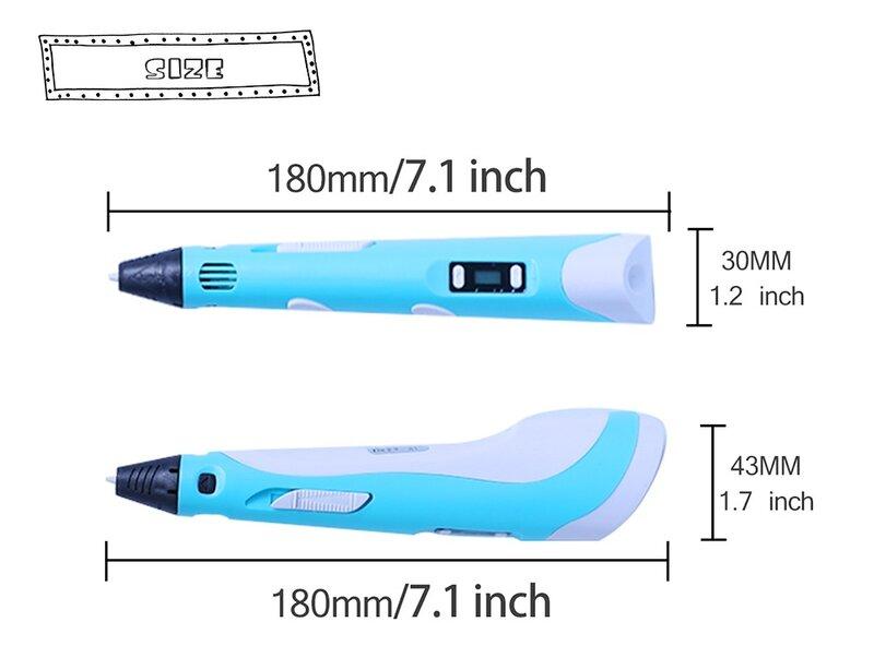 ثلاثية الأبعاد القلم مع 20 لون ABS خيوط الطباعة قلم رسم هدية الإبداعية للأطفال الأطفال طابعة ثلاثية الأبعاد القلم تصميم لتقوم بها بنفسك القلم ا...