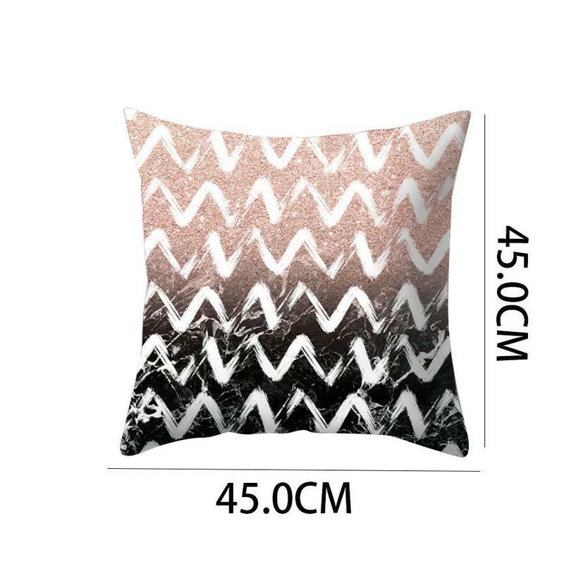 الشمال غير النظامية شكل وسائد أريكة رمي الطباعة الديكور غطاء السرير وسادة الأسرة المخدة غرفة الجملة 45x45 سنتيمتر So Q9N1
